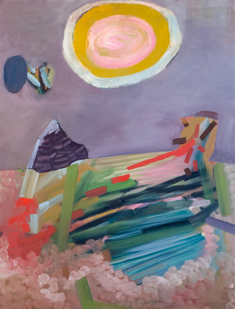 Sun Disc, oil on canvas, 39 x 30 in, 2012