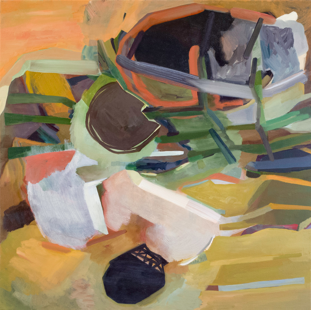 The Places Below Oil on canvas, 30 x 30 in, 2015.